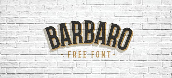 barbaro font tipografia descarga gratuita