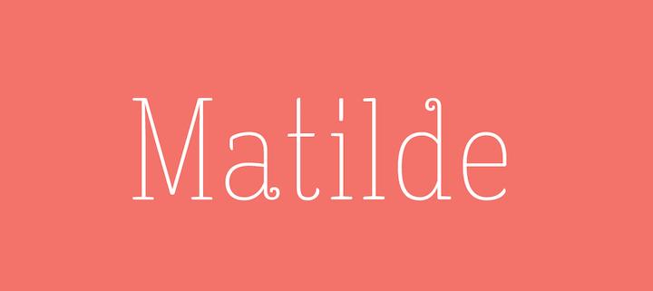 matilde tipografia elegante para descargar gratis