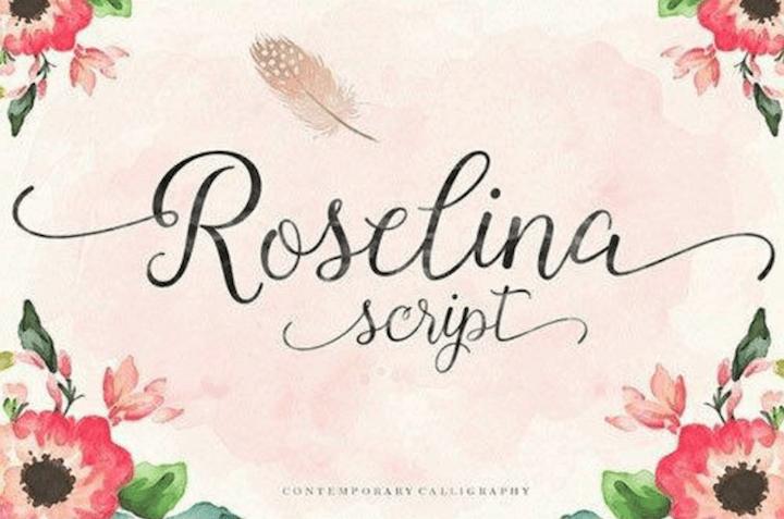 roselina tipografias gratis para descargar