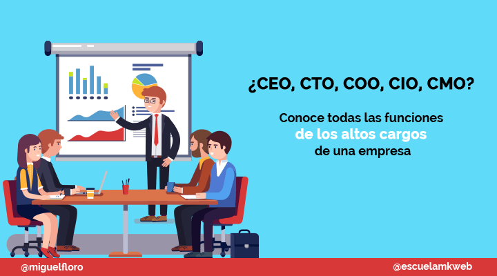 Escuela Marketing and Web - Qué significan las siglas CEO, CFO, CIO, CTO y CMO