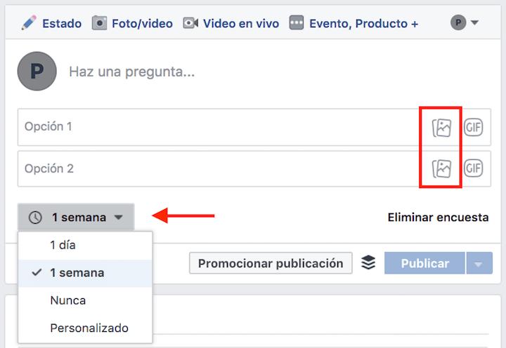 crear encuestas en facebook