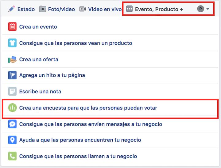 encuestas en facebook
