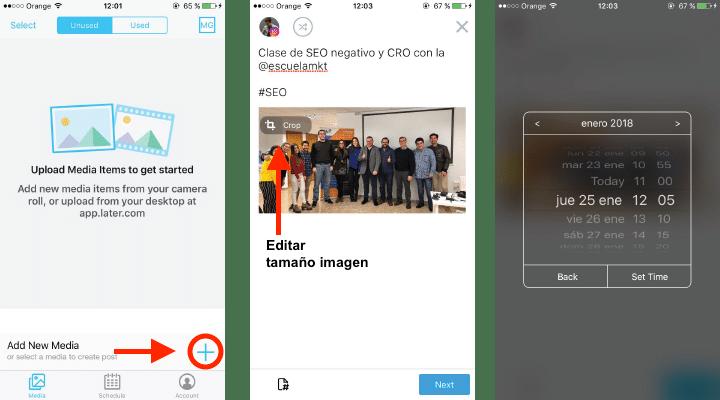 app para programar en instagram