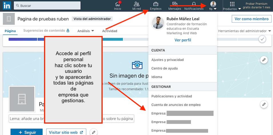como crear una pagina de empresa en linkedin