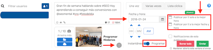 programar stories en instagram
