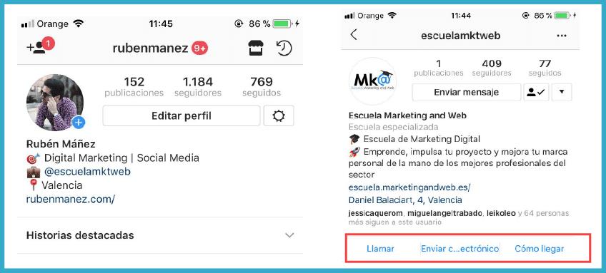 Ventajas perfil empresa Instagram