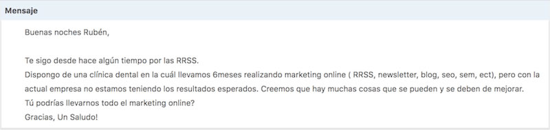 Curso Mentoring - Escuela Marketing and Web - Correo 1