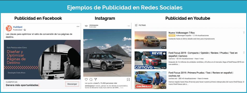 Ejemplos publicidad en redes sociales