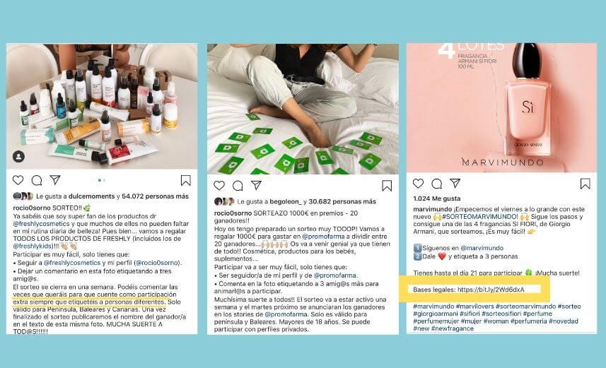 Ejemplos de Sorteos y Concursos en Instagram