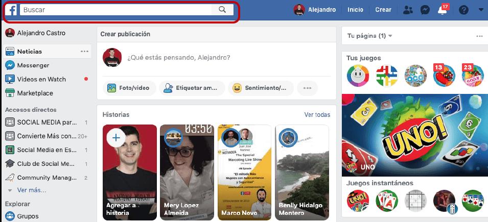 como buscar un grupo de facebook