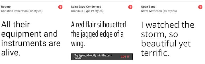 google font pagina para descargar tipografias gratis