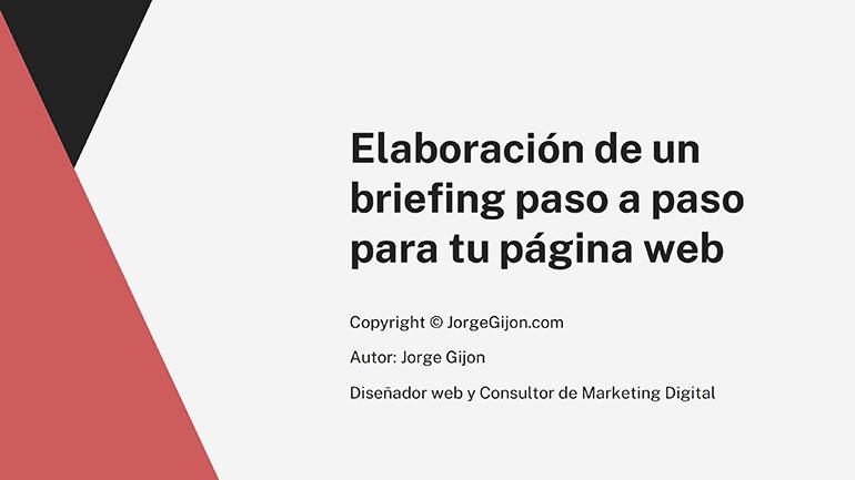 ejemplo de briefing de un diseñador web