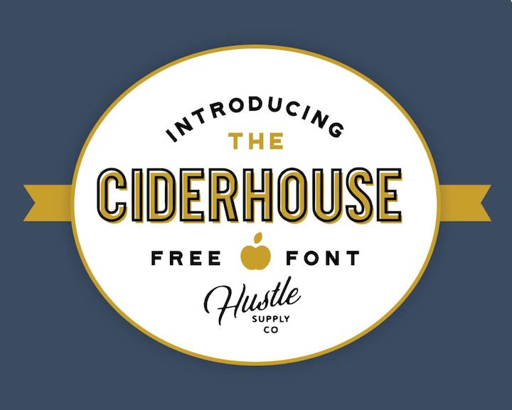 ciderhouse tipografia gratis