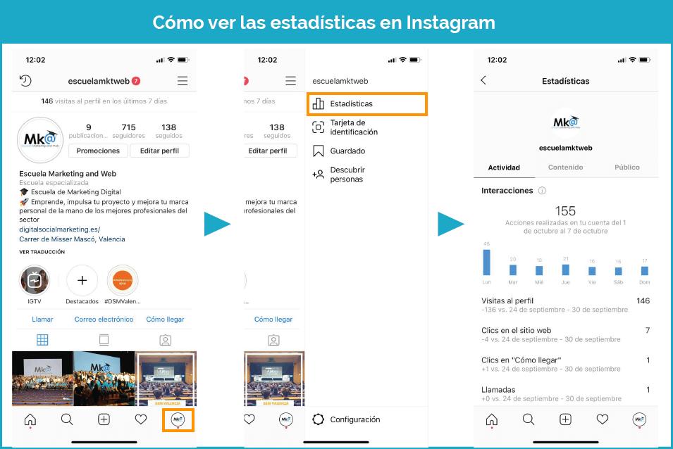 Cómo ver las estadísticas de Instagram