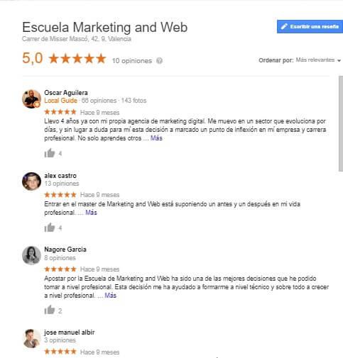 conseguir reseñas en google my business