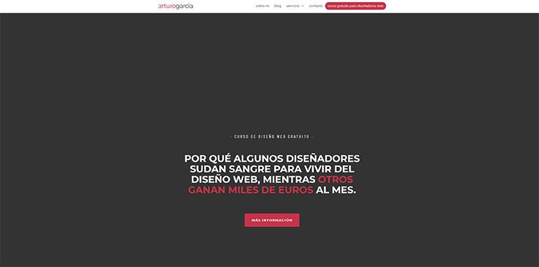pagina web arturo garcia