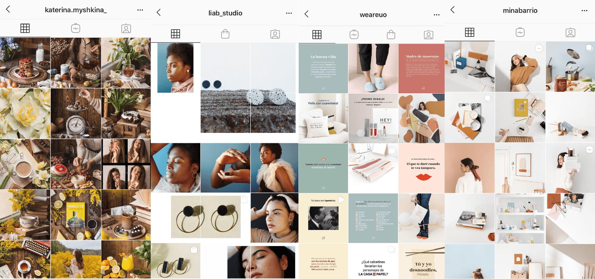 Ejemplos Feed Instagram