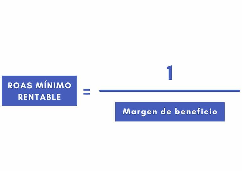 formula roas minimo rentable facebook ads
