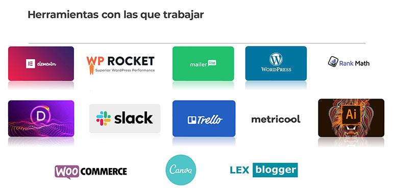 herramientas que utiliza un diseñador web