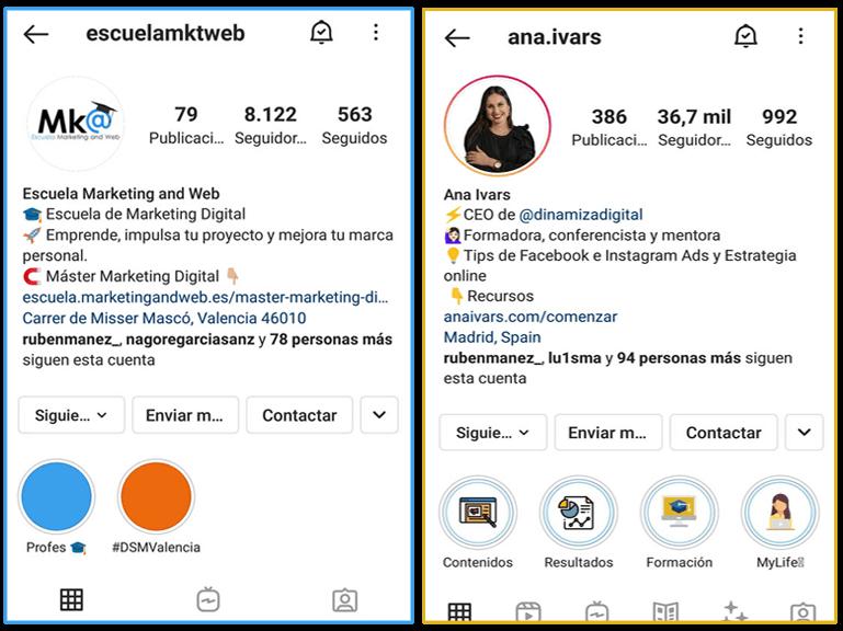 estrategias de marketing en instagram perfiles