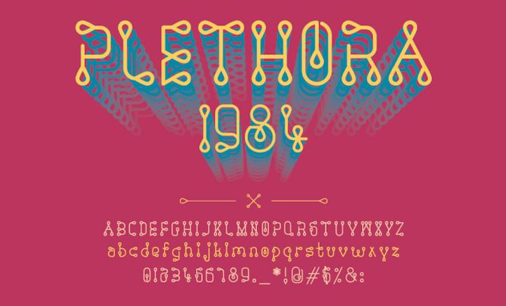 plethora tipografias creativas para descargar gratis