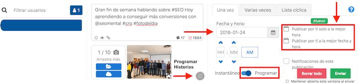 programar stories en instagram