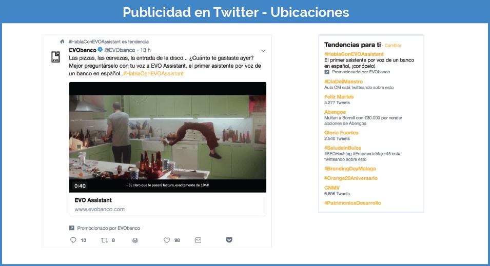 ubicaciones publicidad en Twitter